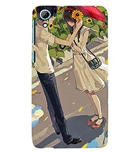 Printvisa Premium Back Cover Love Couple In A Sunflower Field Design For HTC Desire 826::HTC Desire 826 Dual