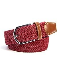 SAMGU Loisirs Mode hommes occasionnel tressé élastique ceinture Unisex Men Women Stretch Belt