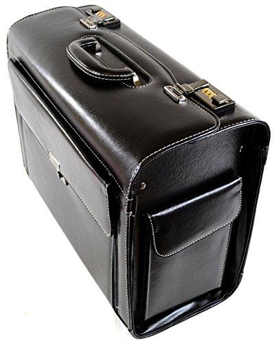 Herren/Damen schwarz Executive/Professional/Business Pilot Case/Tragen/Reise Fall -