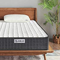 Ej. Life 4FT6 Double 3D Breathable Fabric Mattress with Pocket Springs and Memory Foam - 9-Zone Orthopaedic Mattress - 8.7-Inch