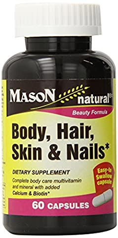Mason Body Hair Skin & Nails 60 Caps Complete Body Care Multivitamin and Mineral