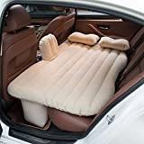 #7: Car Back Seat Inflatable Air Bed Beige Car Bed Outdoor Travel Mattress