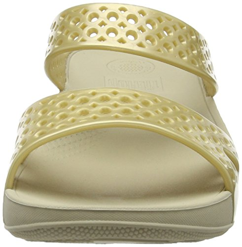 FitFlop Welljelly Z-slide Sandals, Sandales à talon femme Doré