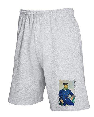 Cotton Island - Pantalone Tuta Corto TDA0085 van gogh213 ritratto del procaccia joseph roulin, Taglia M