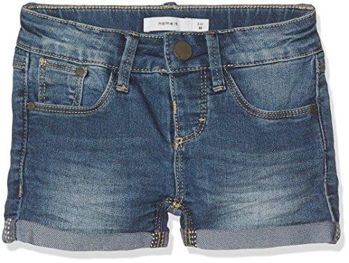 NAME IT Mädchen Nittada Slim Dnm Shorts Nmt Noos, Blau (Dark Blue Denim), 146 (Jeans Shorts Mädchen)