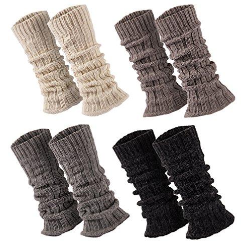 Sockenversandhandel 1 Paar Stulpen Damen Teens Grobstrick Legwarmers mit Alpakawolle Weich u. Warm ca. 30 cm wollweiss