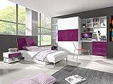 Furnistad - Jugendzimmer Komplett SAPPHIRE (Weiß + Violett)