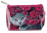 Catseye Kosmetiktasche Small Bag'Cat with Flowers' Schminktasche Reise Tasche