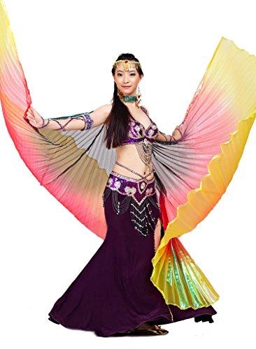 Calcifer® Marke neue Ägyptische Ägypten Belly Dance Flügel Isis Flügel Kostüm Geschenk für Big Party Weihnachten, (Black Dance Kostüm)