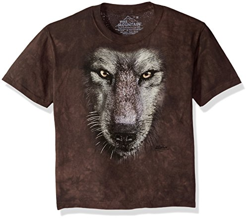 The Mountain Kinder Wolf Face T-Shirt grau