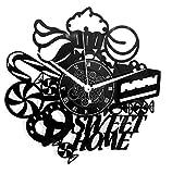 Instant Karma Clocks Horloge Murale Disque en Vinyle LP 33 Tours Instant Karma-Sweet Home Boutique pâtisserie Maison gâteaux Biscuits Bonbons Vintage Silencieux