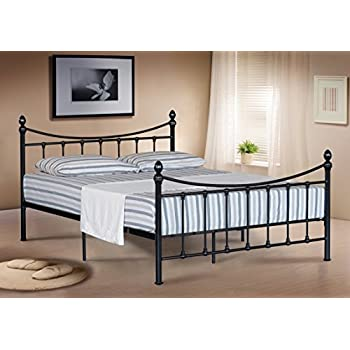 5FT KING SIZE METAL BED FRAME BEDSTEAD IN BLACK: Amazon.co.uk ...