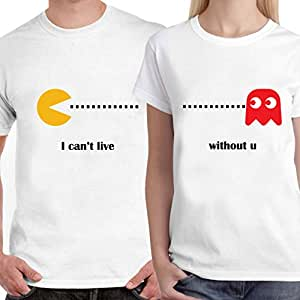 Buy dreambag couple t shirt i can 39 t live without you for Buy couple t shirts online india