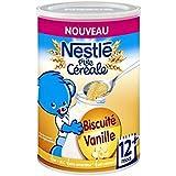 Nestlé p'tite céréale biscuitée vanille 400g dès 12 mois - ( Prix Unitaire ) - Envoi Rapide Et Soignée