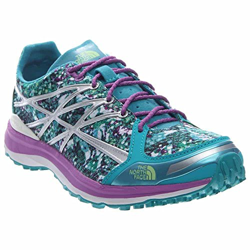 The North Face M Ultra TR II, Zapatillas de Running para Mujer, Azul (Bluebird / Sweet Violet Graphic), 38 EU
