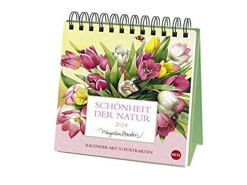 Schönheit der Natur - Postkartenkalender - Wochenkalender 2018 - Marjolein Bastin - Heye-Verlag - Aufstellkalender mit 53 heraustrennbaren Postkarten - 16 cm x 16,5 cm
