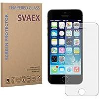 SVAEX iPhone SE / 5 / 5S / 5C Pellicola Protettiva / Pellicola di Protezione dello Schermo - Qualità premium - Vetro con durezza 9H - Spessore di 0.3mm - Trasparenza ad alta definizione - Bordi arrotondati da 2.5D - Antiurto - Rivestimento oleorepellente - Tocco delicato - Vetro di alta qualità - Facile da installare - Adesivo in silicone che previene la formazione di bolle d'aria - Vetro giapponese