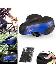 Ondeni Fahrradsattel mit wasserdichter Sattel City Fahrradsitz Gel mit Elastomer Federung und Reflektierende Aufkleber Trekking Rennrad Sattel