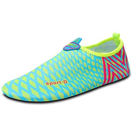 SAGUARO ® Chaussures Chaussons de Plage Aqua Chaussures Chaussures D'Eau Surf Chaussures Schwimmschuhe Pour Homme Femme Enfant - Bleu - Blau 2,