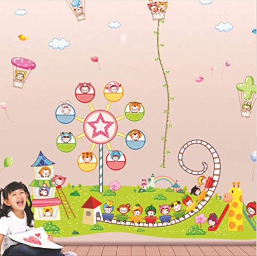 hfwh Wandaufkleber Kinderpark Ferris Rad Vinyl Wandaufkleber Achterbahn Kinderzimmer Kinderzimmer Dekoration Art -