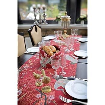 Tischläufer, Kirschblüten, aisiatischer Stil mit Goldelementen und Kirschblüten 100% Baumwolle in verschiedene Größen.