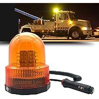 Luz De Faro De Emergencia, 72 LED De Alta Potencia De Construcción De Coches Luces Ámbar Techo De Emergencia Faro De Advertencia Estroboscópica Con Base Magnética Fuerte Para Camiones Autobús Escolar