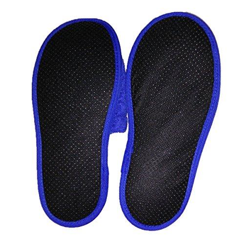 Mulas Comodidad Zapatillas Zapatillas Y Azul Mujeres Algodón Real De Hombres Baño De 100 Resistencia Esponja vp1qxIAp