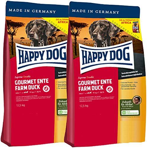 Happy Dog 2 x 12,5 kg Supreme Sensible Gourmet-Ente - Farm Duck - die Alternative zu Africa
