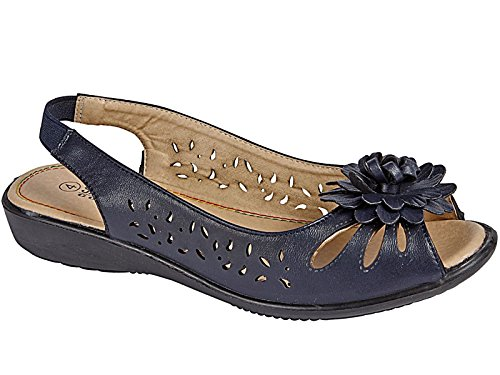Foster Footwear - Peep-Toe donna Navy