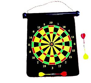 Magnetic Double Sides Dart Board cum Chess Game Set (Color may vary)