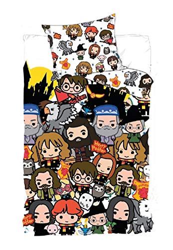 Harry Potter Bettwäsche Bettdeckenbezug 140 x 200 cm 1 Kopfkissenbezug 63 x 63 cm