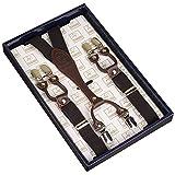 Frau / Mann Hosenträger Moderne Einstellbare und Hohe Qualität KANGDAI 6 Clips mit Y-Zurück Durable Breite Elastische Straps Hosenträger Abnehmbarer Gürtel für Hosen Hosenträger (schwarz)