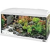 Ferplast 65018011W1 Aquarium Capri 80, Maße: 80 x 31.5 x 46.5 cm, 100 Liter, weiß