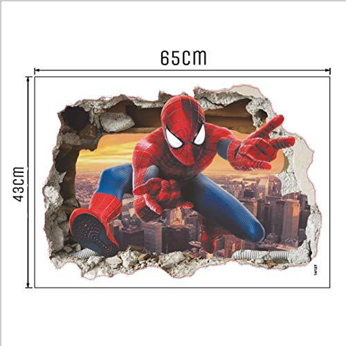 Zoom IMG-3 kibi spiderman adesivo muro da