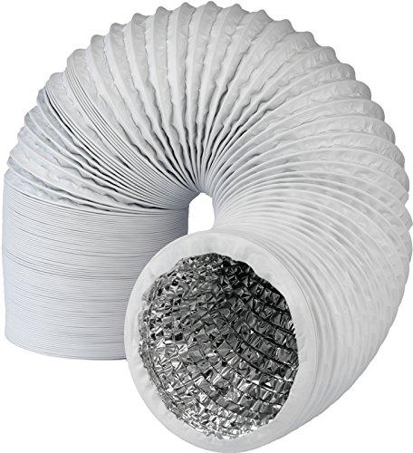 Abluftschlauch mit Alu-Isolierung in Profiqualität, Durchmesser 150mm / 152mm, Länge 5m - für Trockner, Klimaanlage, Abzugshaube - stabil und wärmeisoliert