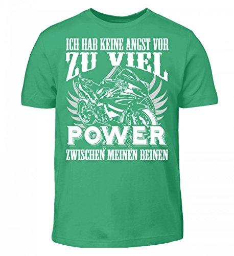 Hochwertiges Kinder T-Shirt - Motorrad Shirt · Geschenkidee für Superbike-Fahrer · Biker Aufdruck Motiv/Spruch · Verschiedene Farben Pacific Green