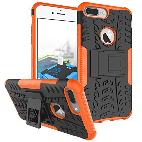 Voguecase® Pour Apple iPhone 6 Plus/6S Plus 5.5, 2 in 1 Unique Style Systemic Good Ventilation Mesh Scratch Proof Shock Absorbent Rigide Plastique Shell Housse Coque Étui Case pour Apple iPhone 6 Plus soutien-Orange