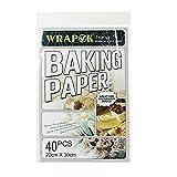 WRAPOK Pergamentpapier Antihaft Backen Plätzchen Blätter Vorschnitt Pergament Papier Pan Liner Für Kochen Kuchen Küchen 8 x 12 Zoll 40 Stück