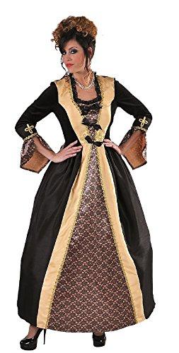 M215160-L-A schwarz-gold Damen Rokoko Barock Kleid Kostüm Marquise Baronin Gr.L