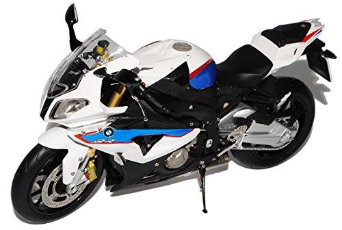 Preisvergleich Produktbild BMW S1000RR Weiss Blau Ab 2009 1/10 Schuco Modell Motorrad