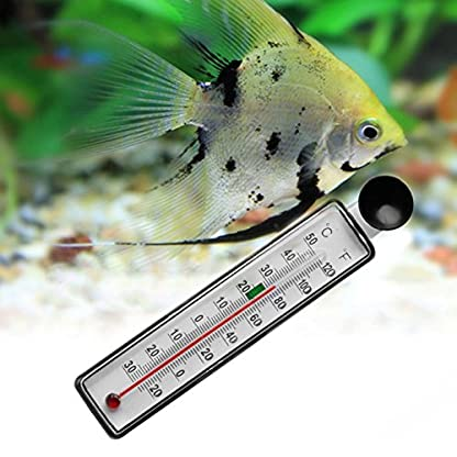 LANDUM Aquarium Fish Tank Thermometer Glass Meter Water Temperature Gauge Suction Cup 3