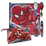 Spiderman - Set neceser higiene comedor escuela (Artesania Cerda 2500000741)