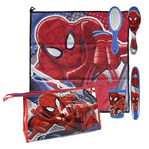 Spiderman-2500000741 Spiderman Set Neceser higiene Comedor Escuela & Uacutenica (Artesanía Cerdá 2500000741