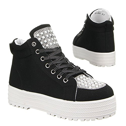 Ital-Design - Pantofole a Stivaletto Donna Nero (nero)