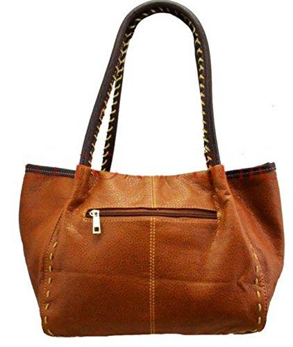 LeahWard® Damen Mode Essener Qualität Kunstleder Wood Taste Schultertasche Damen Stunning Flexible Handtasche CWRX140731 CWRS14131 Lila