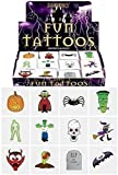Image of Henbrandt 48 x Spooky Halloween Vampire Pumpkin Bats Kids Pretend Transfers Tattoos