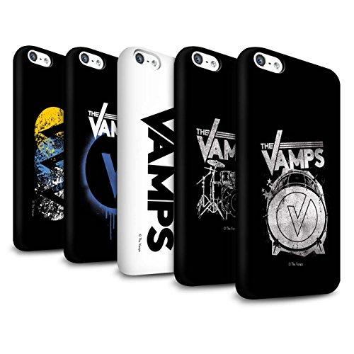 Officiel The Vamps Coque / Clipser Matte Etui pour Apple iPhone 5C / Pack 6pcs Design / The Vamps Graffiti Logo Groupe Collection Pack 6pcs