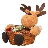 LILITRADE Cesta De Almacenaje para Navidad, Almacenamiento Cesta De Regalos para Fiesta Hogar Caramelos o Decoración, 22 x 22 cm (Elk)