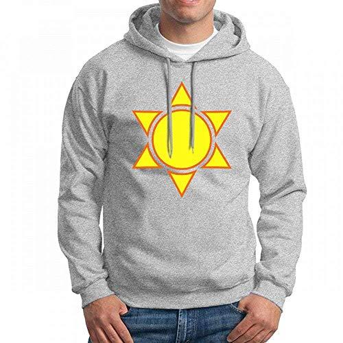 Custom Moodshirts Sunny Men's Pullover Logo Hoodie Custom Sweater