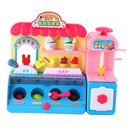Kinder Ice Kostüm Cream - Homyl Kinder Rollenspiel Eisdielen Geschäft mit Licht und Musik Pädagogisches Spielzeug